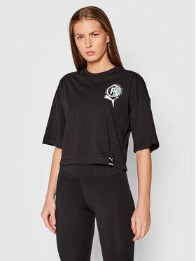 Puma Puma T-Shirt International Graphic 599702 Schwarz Relaxed Fit