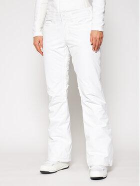 Roxy Roxy Lyžařské kalhoty Backyard ERJTP03127 Bílá Regular Fit