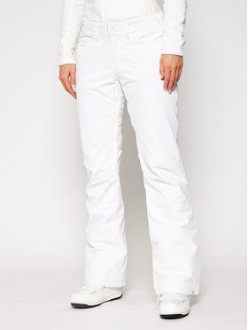 Roxy Roxy Παντελόνι σκι Backyard ERJTP03127 Λευκό Regular Fit