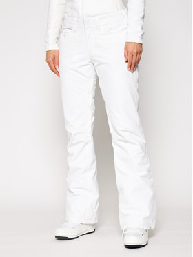 Roxy Roxy Spodnie narciarskie Backyard ERJTP03127 Biały Regular Fit