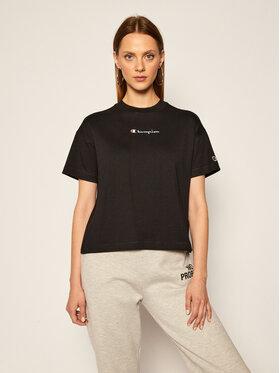 Champion Champion T-shirt Cropped Oversized Small Script Logo 113195 Noir Custom Fit