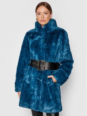 Fracomina Fracomina Кожено палто FR21WC4008O441L7 Син Regular Fit