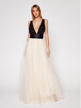 Elisabetta Franchi Elisabetta Franchi Vakarinė suknelė AB-114-07E1-V829 Smėlio Slim Fit