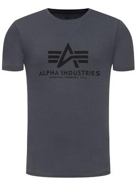Alpha Industries Alpha Industries Marškinėliai Basic 100501 Pilka Regular Fit