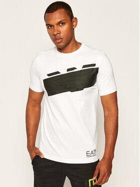 EA7 Emporio Armani EA7 Emporio Armani T-Shirt 6HPT31 PJ3NZ 1100 Biały Regular Fit
