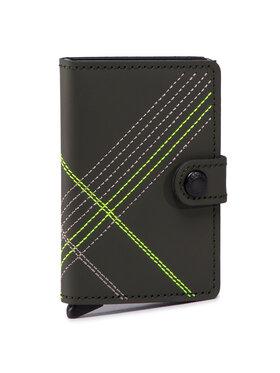 Secrid Secrid Kisméretű férfi pénztárca Miniwallet MSt Stitch Linea Zöld