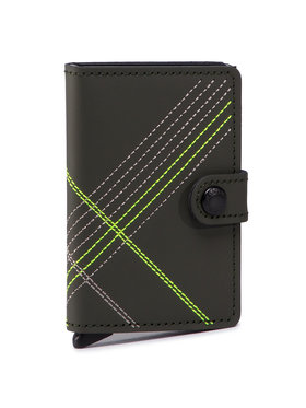 Secrid Secrid Malá pánska peňaženka Miniwallet MSt Stitch Linea Zelená