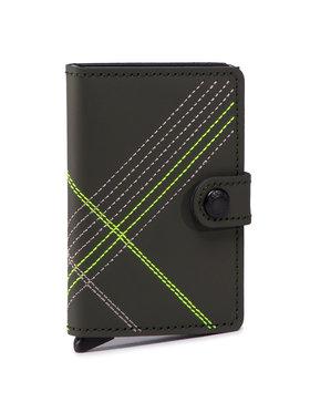 Secrid Secrid Malá pánská peněženka Miniwallet MSt Stitch Linea Zelená