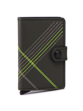 Secrid Secrid Малък мъжки портфейл Miniwallet MSt Stitch Linea Зелен