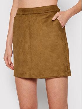 Vero Moda Vero Moda Spódnica mini Donnadina 10210430 Brązowy Regular Fit