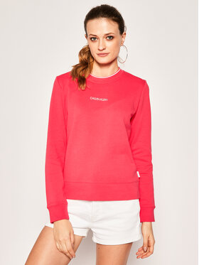 Calvin Klein Calvin Klein Mikina Regular Small Logo K20K202012 Růžová Regular Fit