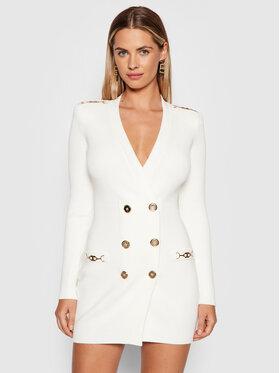 Elisabetta Franchi Elisabetta Franchi Džemper haljina AM-41S-16E2-V450 Bijela Slim Fit