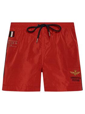 Aeronautica Militare Aeronautica Militare Plavecké šortky 211BW201CT1537 Červená Regular Fit