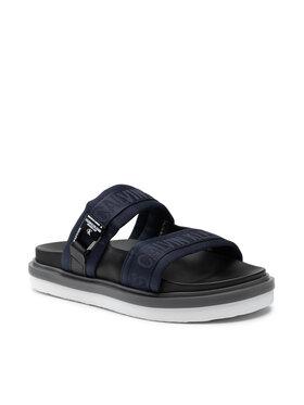 Calvin Klein Jeans Calvin Klein Jeans Klapki Flat Sandal Twostraps Pes YM0YM00008 Granatowy