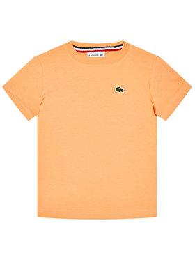 Lacoste Lacoste Marškinėliai TJ1442 Oranžinė Regular Fit