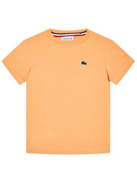 Lacoste Lacoste Тишърт TJ1442 Оранжев Regular Fit