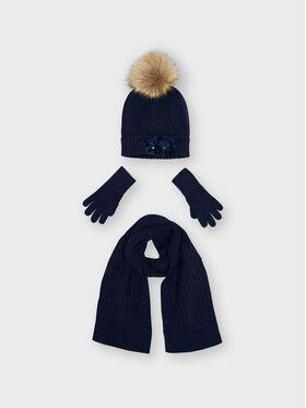 Mayoral Mayoral Completo cappello, sciarpa e guanti 10154 Blu scuro