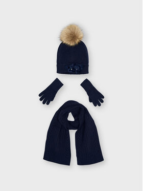 Mayoral Mayoral Комплект шапка, шал и ръкавици 10154 Тъмносин
