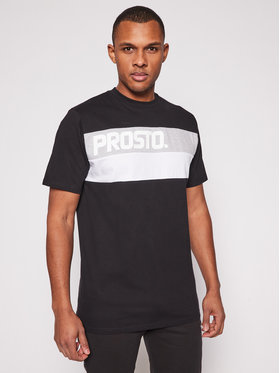PROSTO. PROSTO. T-Shirt KLASYK Resk 1211 Czarny Regular Fit