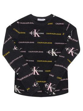Calvin Klein Jeans Calvin Klein Jeans Блуза Mix Logo Allover IG0IG00560 Черен Slim Fit