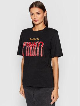 Pinko Pinko Tričko Tianeti 1G16UE Y6K7 Čierna Regular Fit