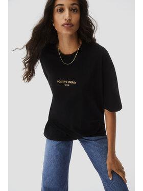 Sprandi Sprandi T-shirt AW21-TSD017 Crna Relaxed Fit