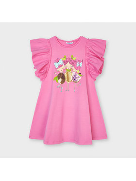Mayoral Mayoral Φόρεμα καθημερινό 3953 Ροζ Regular Fit
