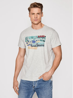 Pepe Jeans Pepe Jeans T-Shirt Mig PM507774 Šedá Regular Fit