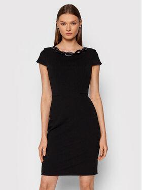 Rinascimento Rinascimento Sukienka codzienna CFC0105031003 Czarny Regular Fit