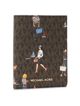 MICHAEL Michael Kors MICHAEL Michael Kors Velká dámská peněženka Bedrord Travel 34S1G07T8Y Hnědá
