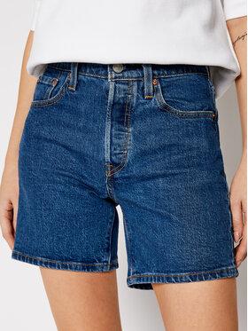 Levi's® Levi's® Džinsiniai šortai 501™ Mid Thigh 85833-0007 Tamsiai mėlyna Regular Fit