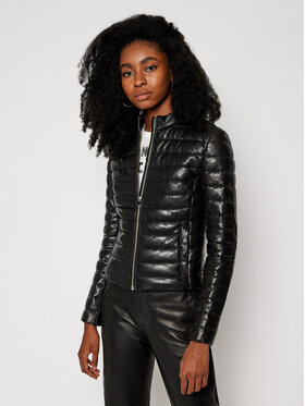 LaMarque LaMarque Kožená bunda Zahara 6324 Černá Regular Fit