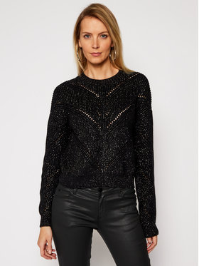 Guess Guess Pulover Emma W1RR00 Z2BB0 Negru Relaxed Fit