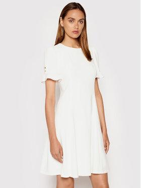 DKNY DKNY Коктейлна рокля DD1E1593 Бежов Regular Fit