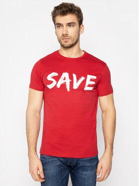 Save The Duck Save The Duck T-Shirt DT401M JESYX Červená Regular Fit