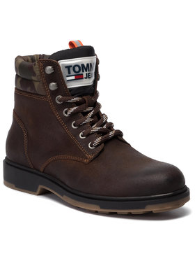 Tommy Jeans Tommy Jeans Trappers Casual Suede Boot EM0EM00315 Maro