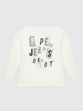 Pepe Jeans Pepe Jeans Bluzka Tricia PG502743 Biały Regular Fit