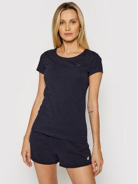 4F 4F T-Shirt NOSH4-TSD001 Granatowy Regular Fit