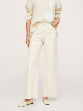 Mango Mango Jeansy Lauren 17005950 Beżowy Relaxed Fit