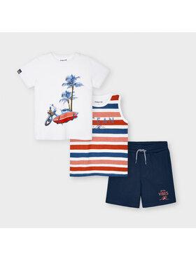 Mayoral Mayoral Set tricou, top și pantaloni scurți 3639 Colorat Regular Fit