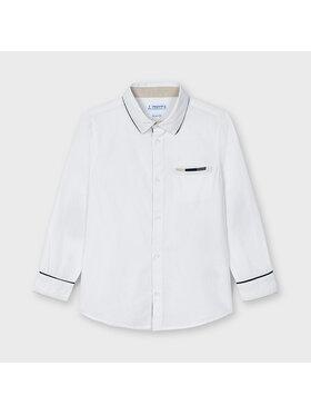 Mayoral Mayoral Πουκάμισο 3128 Λευκό Slim Fit
