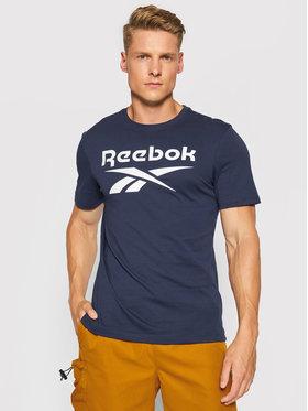 Reebok Reebok T-Shirt Graphic Series Reebok Stacked Tee GS1616 Granatowy Slim Fit