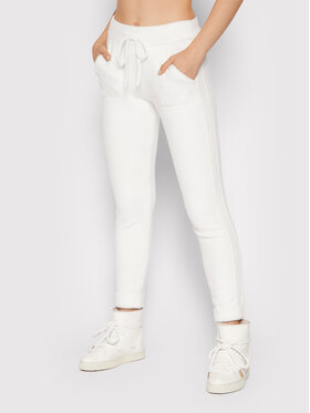 Deha Deha Παντελόνι υφασμάτινο D53316 Λευκό Regular Fit