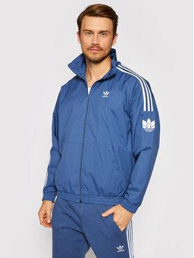 adidas adidas Prechodná bunda adicolor 3D Trefoil 3-Stripes GN3536 Modrá Regular Fit
