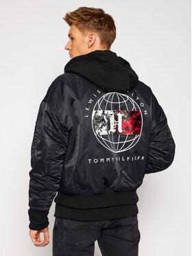 Tommy Hilfiger Tommy Hilfiger Bomberjacke LEWIS HAMILTON Detachable MW0MW15304 Schwarz Regular Fit