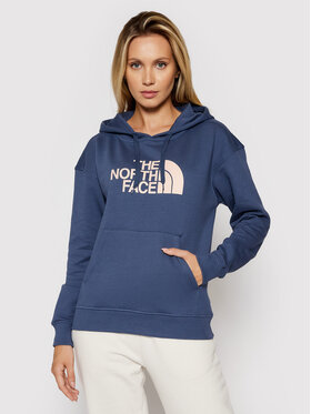 The North Face The North Face Majica dugih rukava W Light Drew Peak Hoodie NF0A3RZ40 Tamnoplava Regular Fit