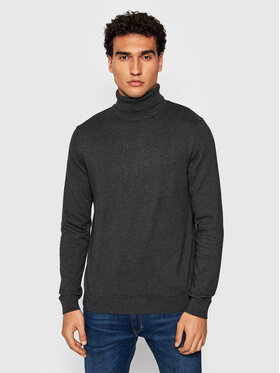 Selected Homme Selected Homme Pull à col roulé Berg 16074684 Gris Regular Fit