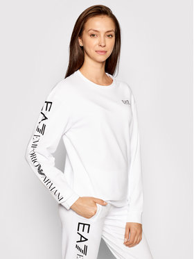 EA7 Emporio Armani EA7 Emporio Armani Sweatshirt 3KTM16 TJ5FZ 0102 Weiß Regular Fit