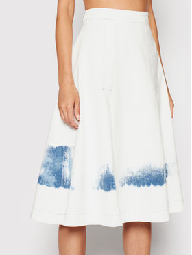 Trussardi Trussardi Spódnica jeansowa Blitch Tye-Dye 56G00171 Biały Regular Fit
