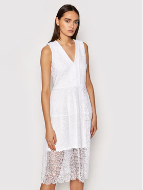 MICHAEL Michael Kors MICHAEL Michael Kors Коктейлна рокля MS1803Y1D0 Бял Regular Fit